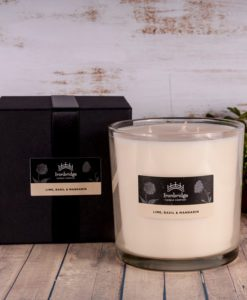 Lime, Basil and Mandarin Tall 3-Wick Candle