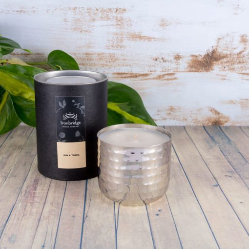 Gin & Tonic Scented Candle (Silver Dimple)