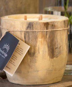 Lemongrass Natural Log Candle - Small