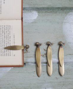 Brass Snail Bookmark