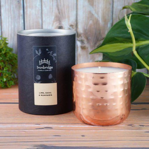 Lime, Basil & Mandarin Candle - Copper Dimple