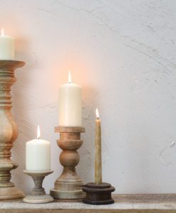 Reclaimed Pulley Candle Stick
