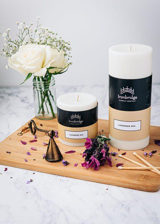 Lavender Spa Pillar Candle