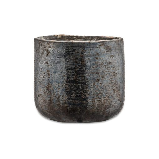 Aban Rustic Tea Light Holder - Charcoal - Medium