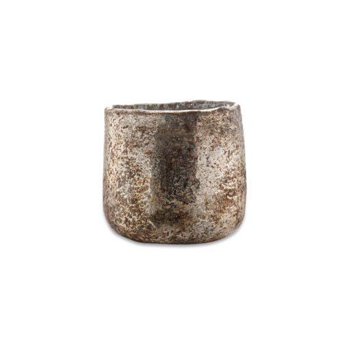 Aban Rustic Tea Light Holder - Gold - Small