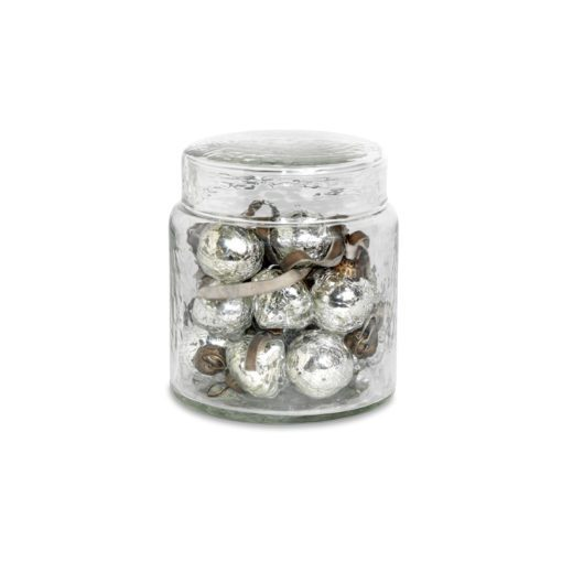 Adisa Bauble Jar - Antique Silver