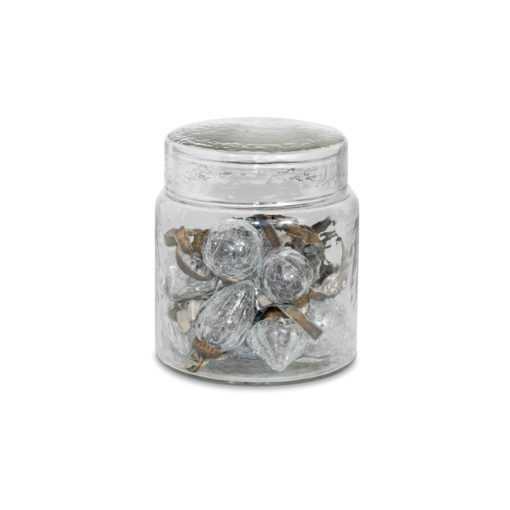 Adisa Bauble Jar - Clear Crackle
