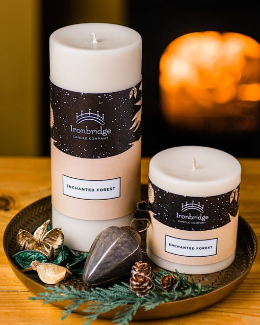 Enchanted Forest Pillar Candle