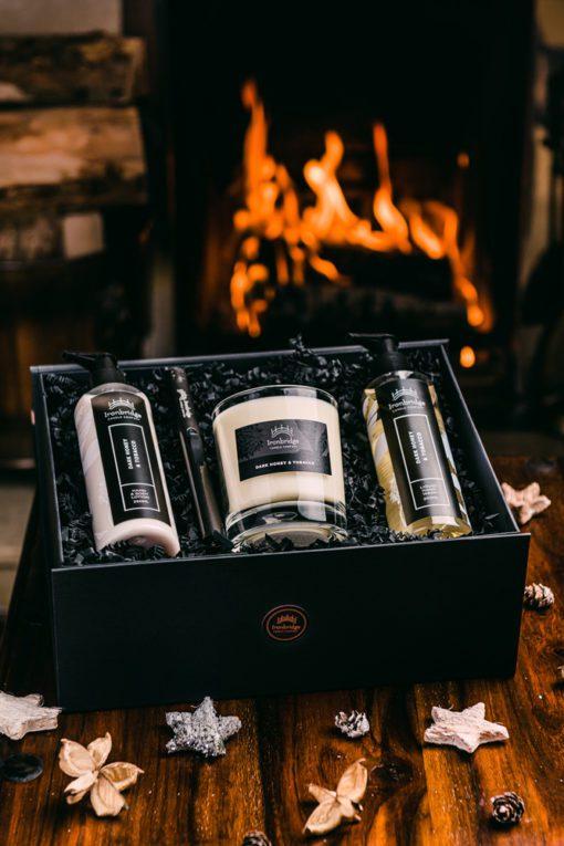 Luxury Gift Set (Pritchard Collection) - Dark Honey & Tobacco