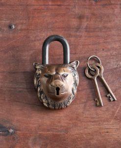 Lion Brass Padlock