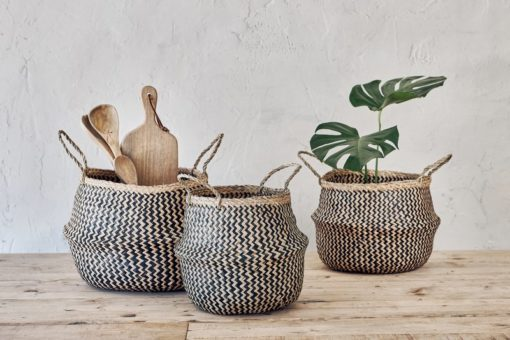Ekuri Basket - Black & Natural