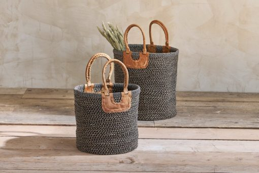 Indra Coil Basket - Charcoal