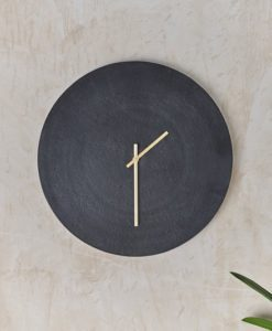 Okota Wall Hung Clock - Black
