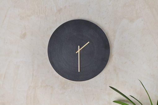 Okota Wall Hung Clock - Black