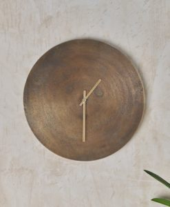 Okota Wall Hung Clock - Antique Brass
