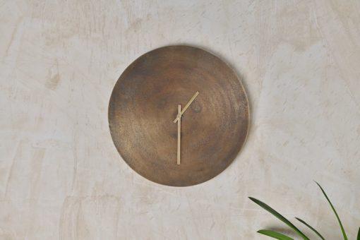 Okota Wall Hung Clock - Antique Brass