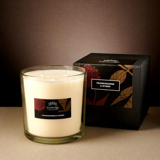 Frankincense & Myrrh Tall 3-Wick Candle
