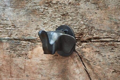 Elephant Door Knocker - Antique Black