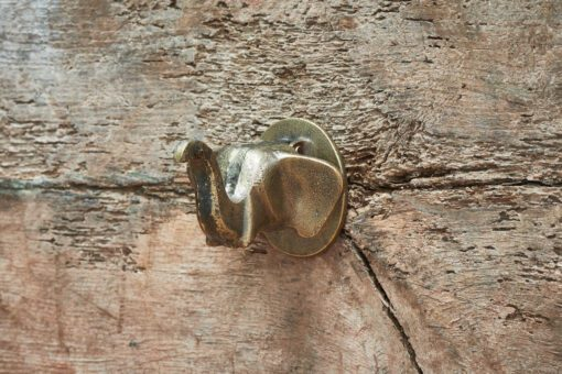 Elephant Door Knocker - Antique Brass