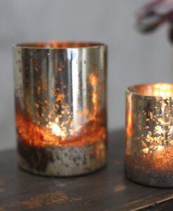 Tabia Rustic Silver T-Light