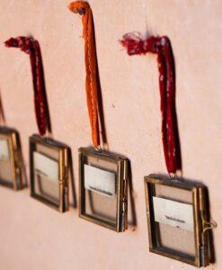 Tiny Kiko Frame Antique Brass (Set Of 4)
