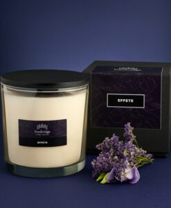 Effete Tall 3-Wick Candle (With Lid)