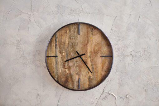 Alomi Mango Wood Clock - Large