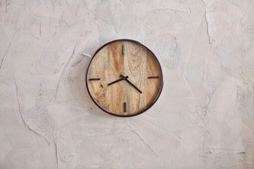 Alomi Mango Wood Clock - Small