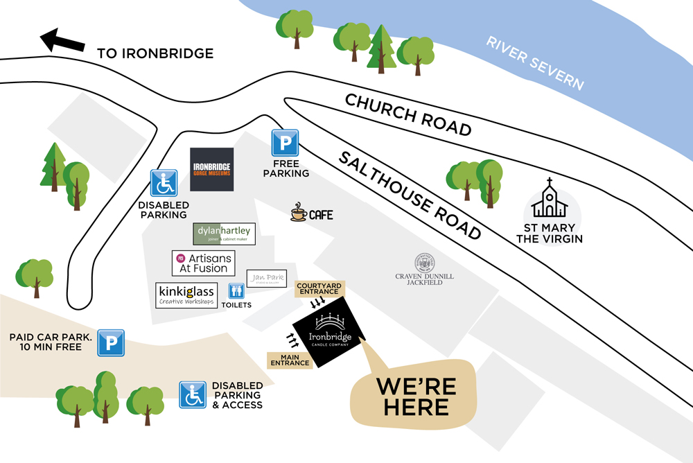 Ironbridge Candle Company Location Map