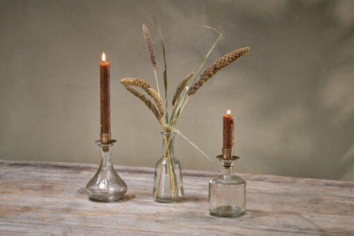 Sirsa Glass Candlestick - Clear
