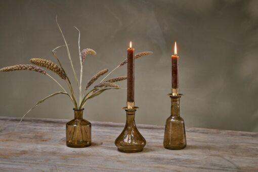 Sirsa Glass Candlestick Sepia