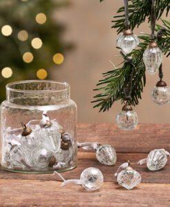 Adisa Bauble Jar - Clear Crackle (Set of 16)