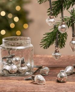 Adisa Bauble Jar - Silver Crackle