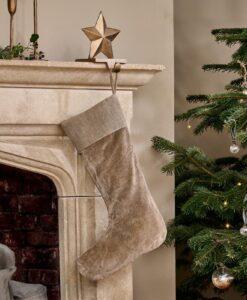 Karru Cotton Velvet Stocking (Light Grey)