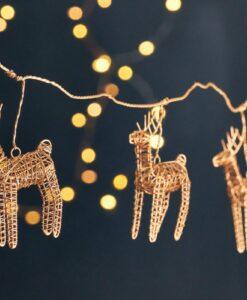 Ramya Wire Reindeer Garland